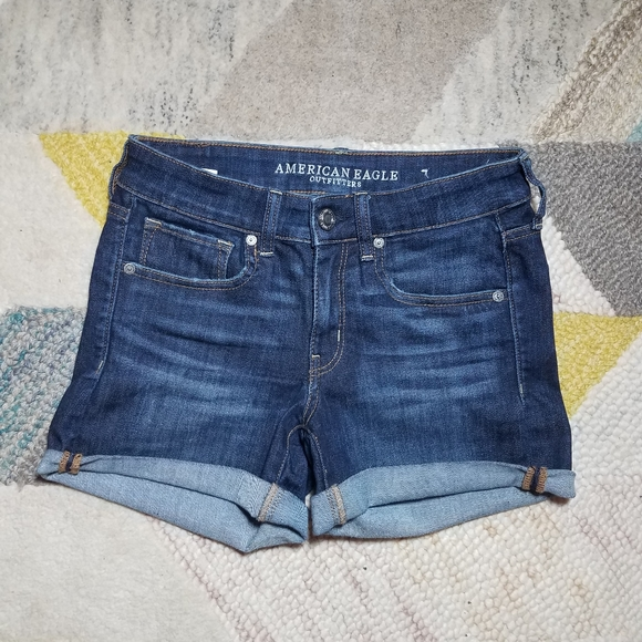 American Eagle Outfitters Pants - American Eagle Jean Shorts Midi Next Level Stretch